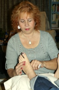 Becky Cobb of Balance and Harmony reflexology session