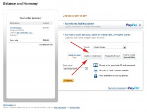 How to select a payment type with PayPal