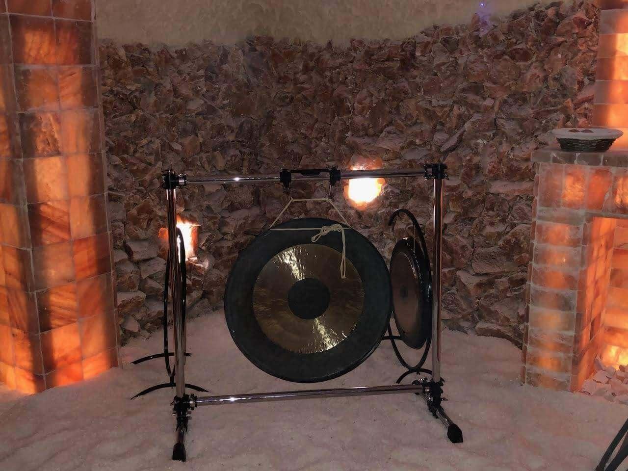 salt cave gong meditation